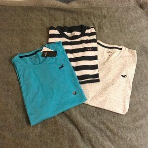Bundle of New Hollister short sleeve T-shirts